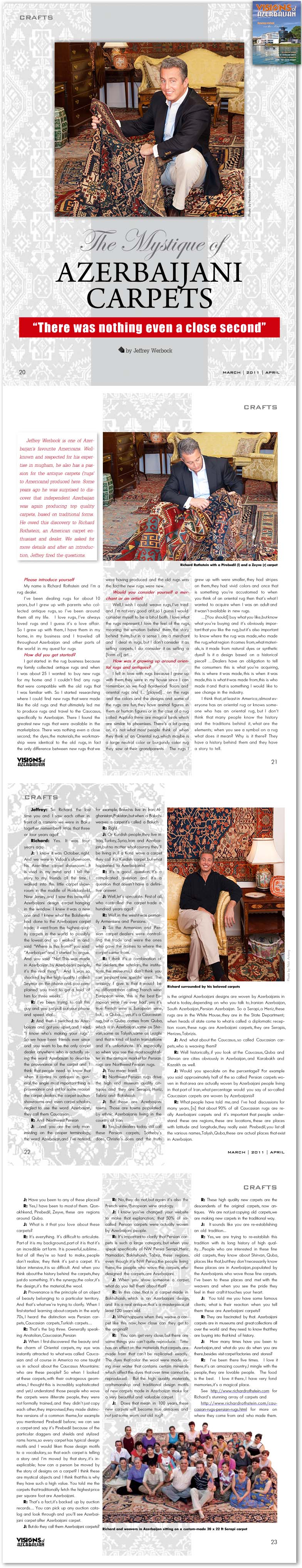 Richard Rothstein featured in Visions Magazine