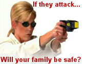 Protect your family with stun guns, pepper spray, and TASER� devices from Non-Lethal Defense