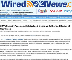 CCTVSecurityPros.com Celebrates 7 Years as Authorized Dealer of GeoVision