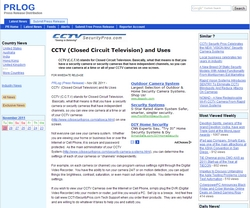 CCTV (Closed Circuit Television) and Uses