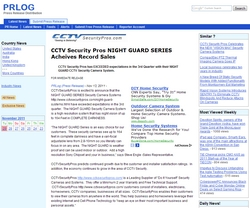 CCTV Security Pros NIGHT GUARD SERIES Acheives Record Sales