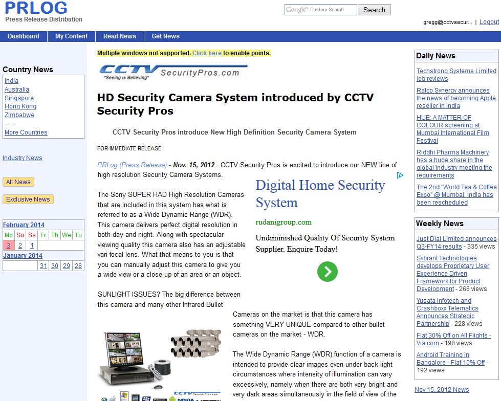 HD Security Camera System introduced by CCTV Security Pros