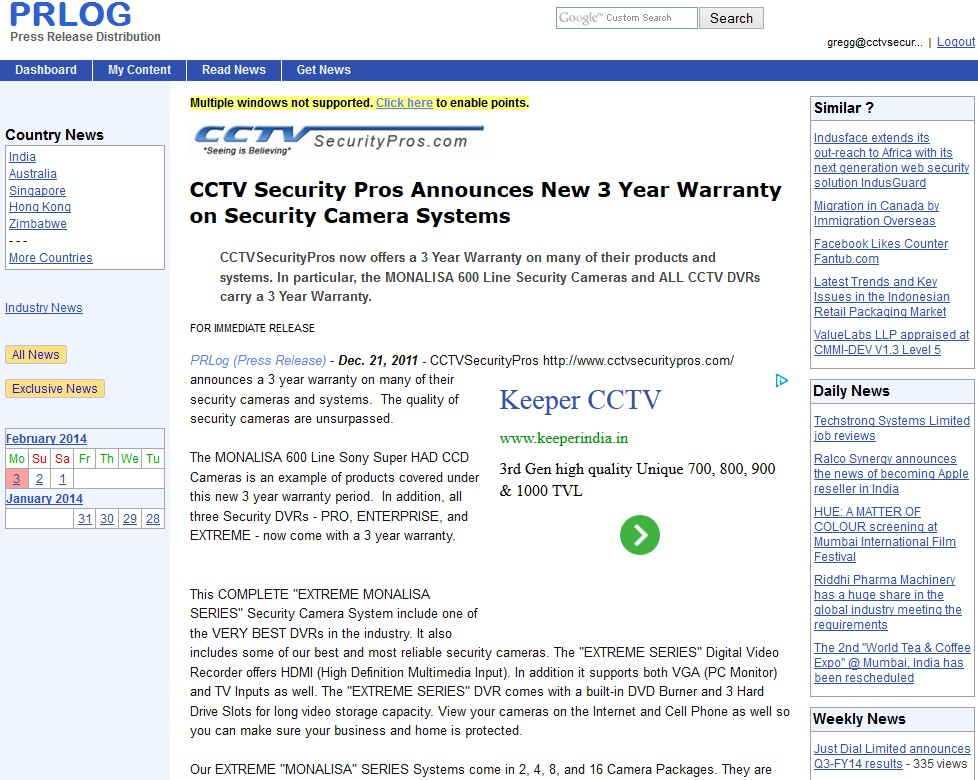 CCTV Security Pros Announces New 3 Year Warranty on Security Camera Systems