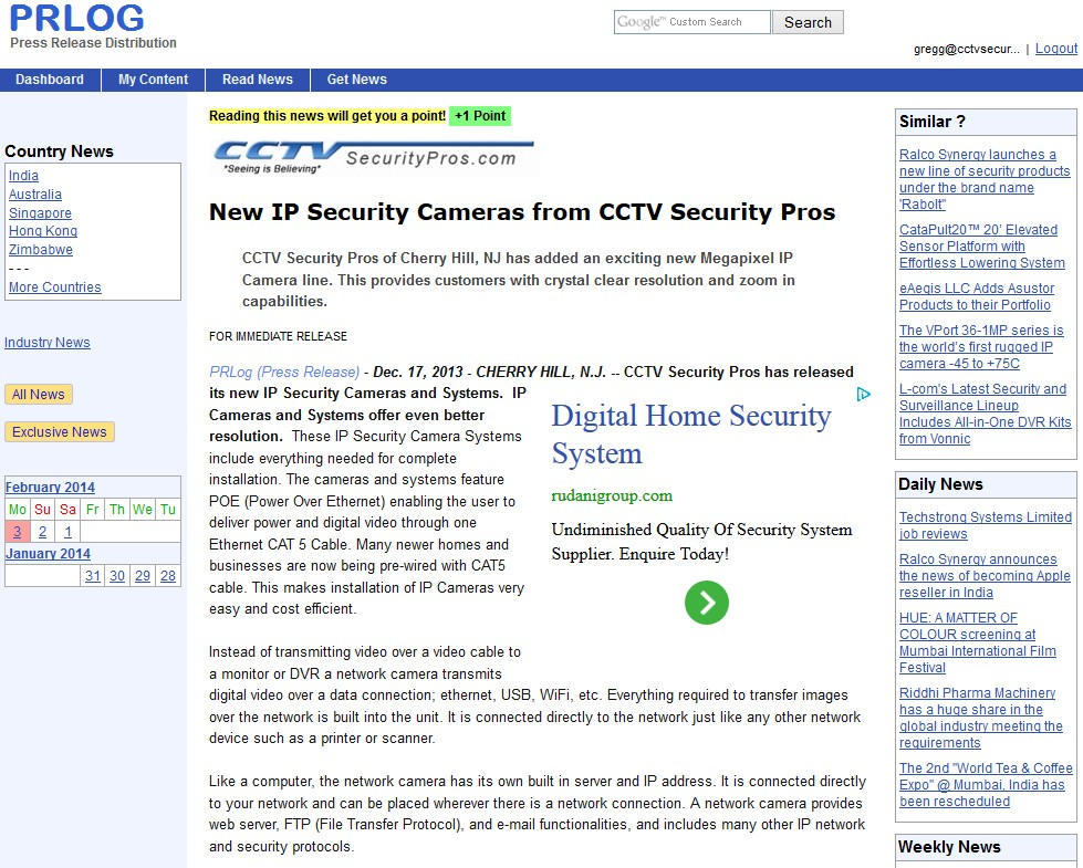 New IP Security Cameras from CCTV Security Pros