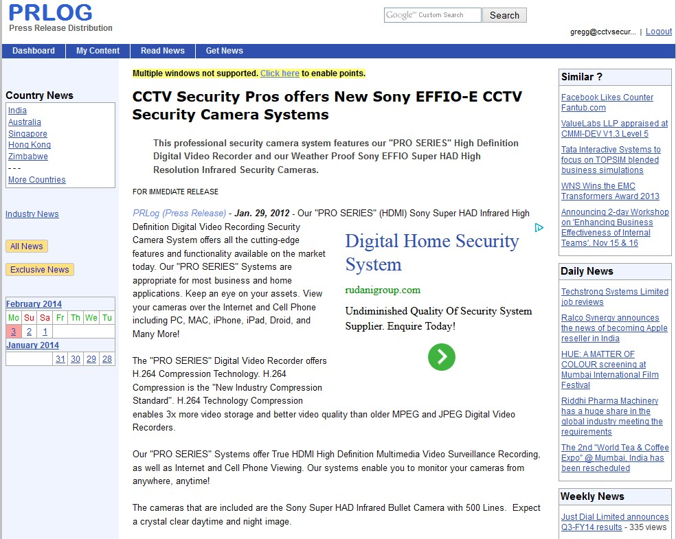 CCTV Security Pros offers New Sony EFFIO-E CCTV Security Camera Systems