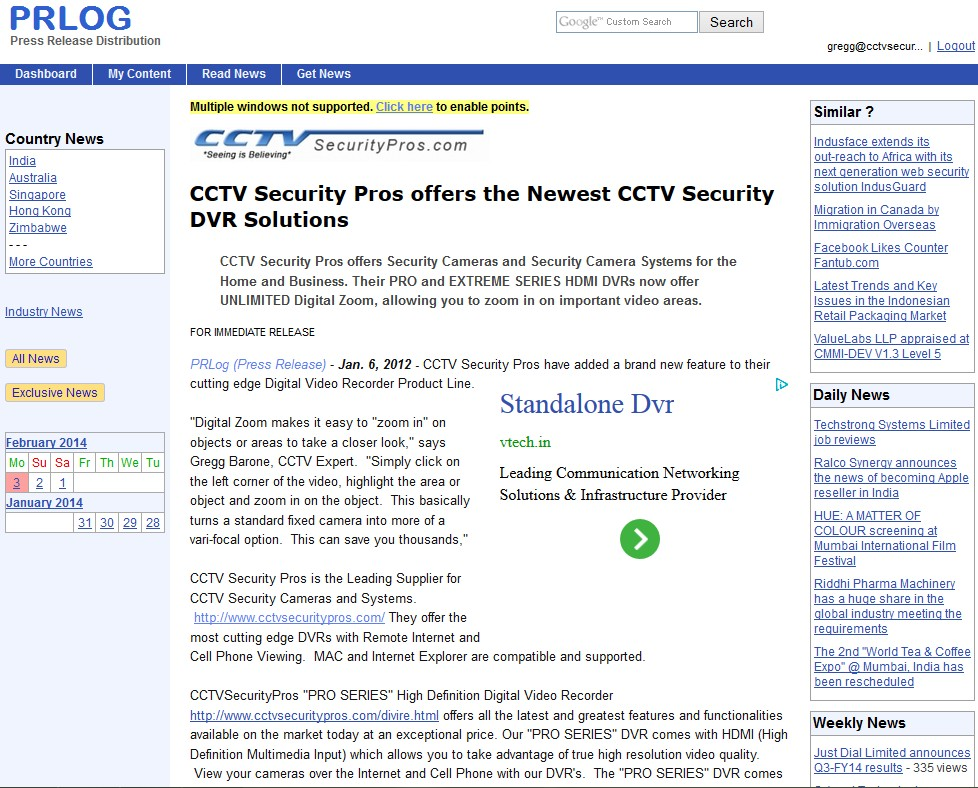 CCTV Security Pros offers the Newest CCTV Security DVR Solutions