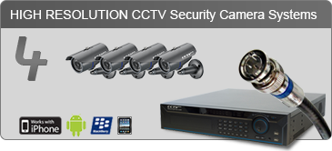 4 camera security system, security camera