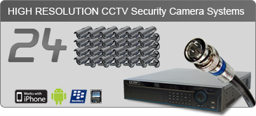 24 camera security system, security camera