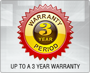 Warranty for 3 years period