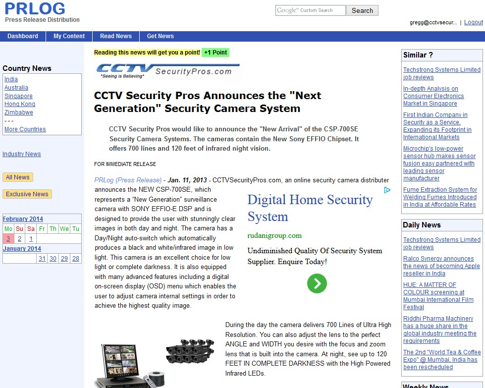 CCTV Security Pros Announces the Next Generation Security Camera System