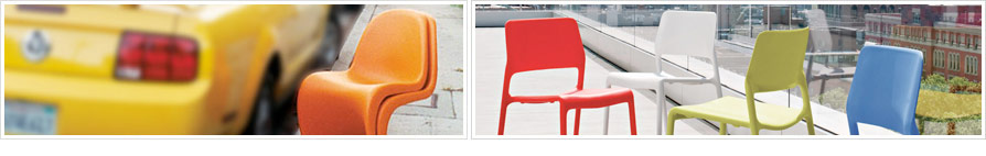 YLiving Inspiration Board: Stacking Chairs Indoors + Out