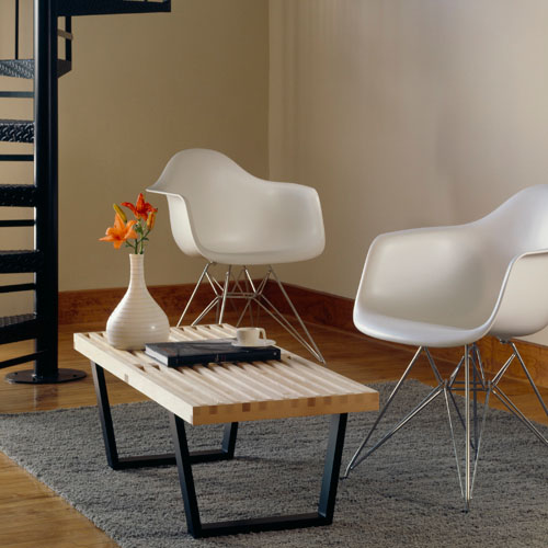 eames molded plastic armchair by charles and ray eames. Black Bedroom Furniture Sets. Home Design Ideas