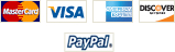 We accept MasterCard, Visa, American Express, Discover, and PayPal