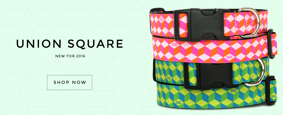 New Union Square Dog Collar Pattern for Winter 2015/206. Union Square by GwenGear San Francisco.