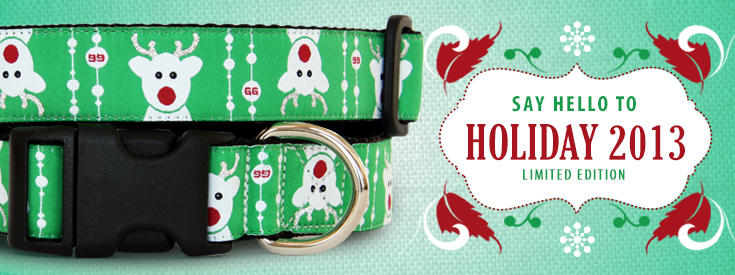 New Holiday Christmas Dog Collar Pattern for 2013 by GwenGear San Francisco.