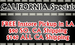 California Shipping Specials