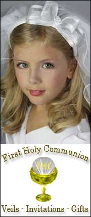Buy First Holy Communion Gifts, Veils, and Invitations.