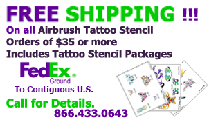 airbrush tattoo stencil free shipping