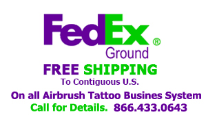 airbrush tattoo systems free shipping