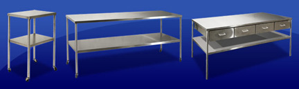 MAC Medical Instrument Tables & Back Tables