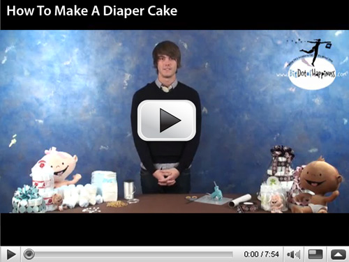 How To Make a Diaper Cake Video