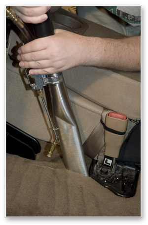 The Crevice Tool works with the Aztec Hot Water Extractor.