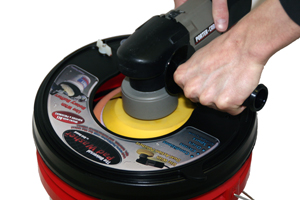 The Grit Guard Universal Pad Washer is the only pad washer that works with all types of polishers!