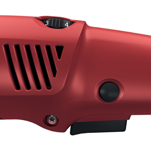 The speed controls on the FLEX PE 14-2-150 rotary polisher are all within easy reach.