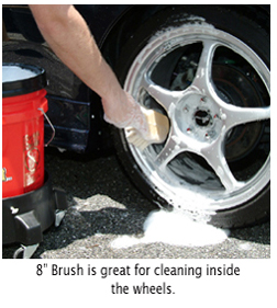 Use Boar's Hair Wheel Brush to safely clean all wheels.