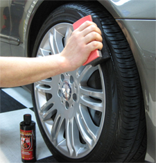 Wolfgang Exterior Trim Sealant protects tires.