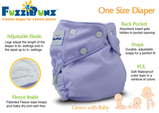 Click to Buy the NEW One Size FuzziBunz� Diaper!!