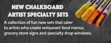 New chalkboard artist sets!