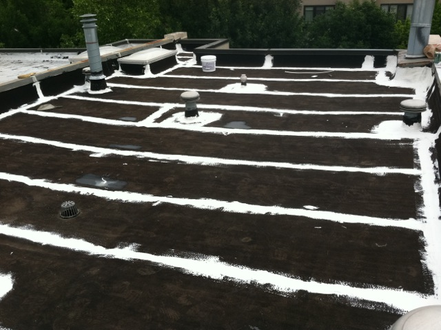 Defective seams and flashings prepped before roof coating