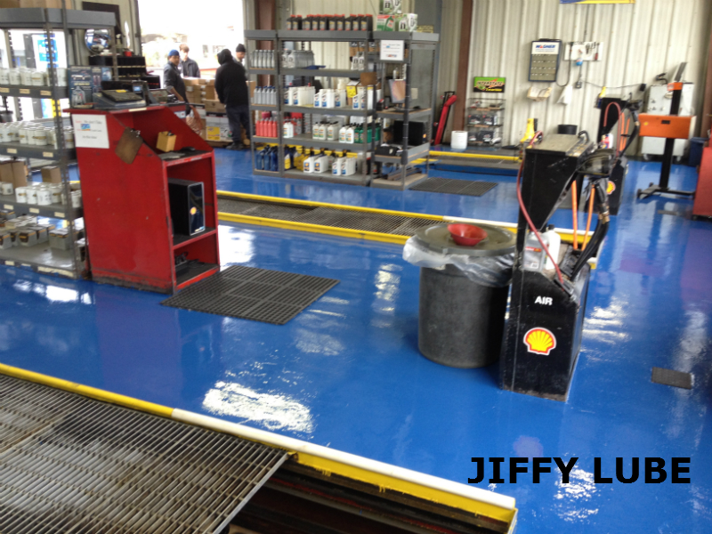 Armor ii commercial epoxy flooring system armor garage for Mechanic shop flooring
