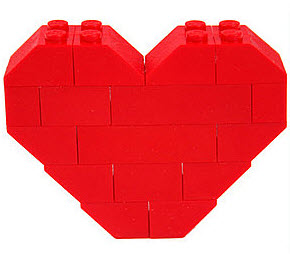 Red Lego Heart
