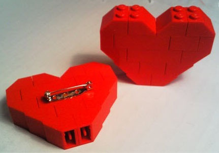 Back of Lego Heart