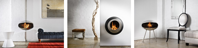 Cocoon Fires - a collection of modern fireplaces for indoor and outdoor use. 