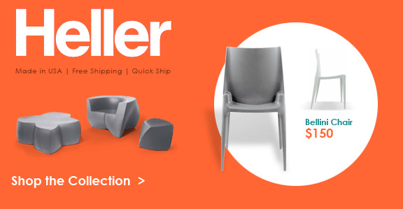A collection of modern furniture from designers such as Mario Bellini, Frank Gehry and Lella & Massimo Vignelli.