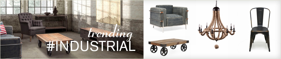 Shop trendy, industrial furniture & decor