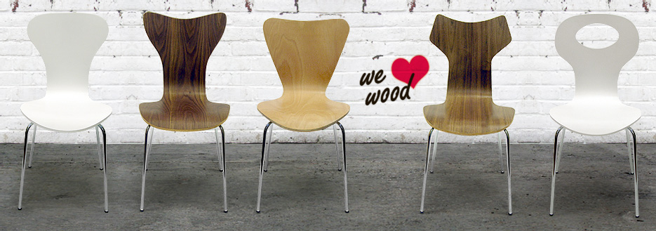 Wood dining chairs designed by Inmod