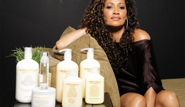 Wendi Levy, the Original Mixed Chick, with Mixed Chicks Hair Products