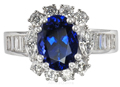 Super Gem Tanzanite & Diamond Ring