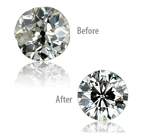 diamond cutting before and after