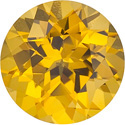 Round Cut Canary Yellow Sapphire Gem