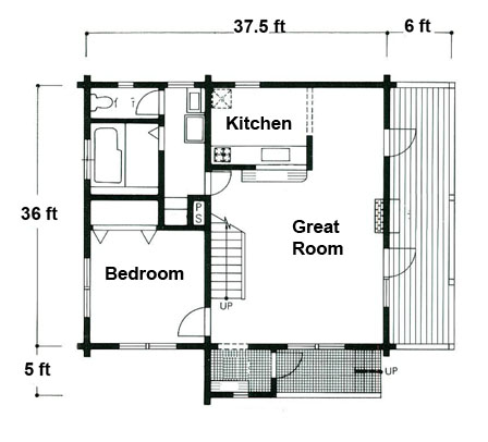 Log Cabin Floor Plans Small