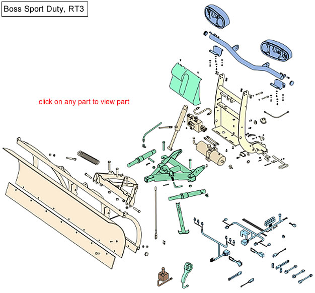 Boss RT3 Sport Duty Parts Diagram