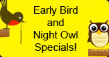 Speedy Shine Early Bird and Night Owl Specials