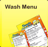 Speedy Shine Car Wash Menu