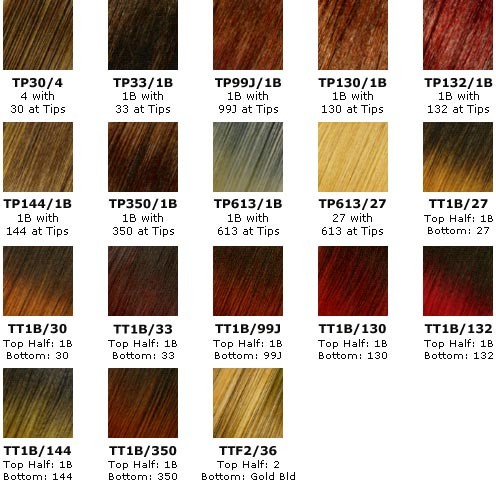 Hair Color Chart on Color Chart