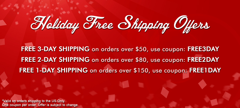 FREE Overnight Shipping for 2013 Holiday